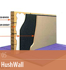 HushWall, Sound Reduction